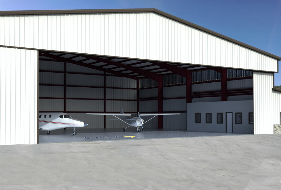 Turnkey Steel Buildings - Metal Airplane Hangar Construction