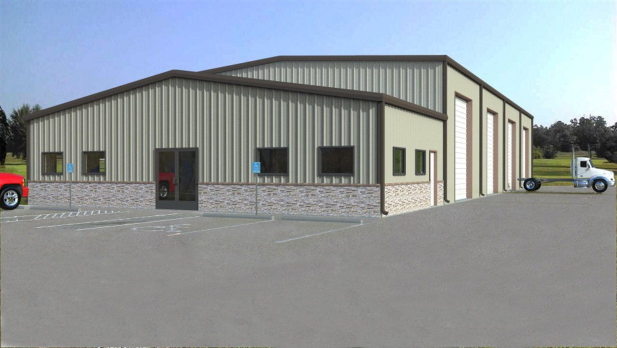 Conroe Metal Warehouse Construction